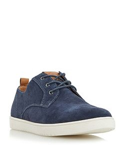 Tucker round toe suede trainers