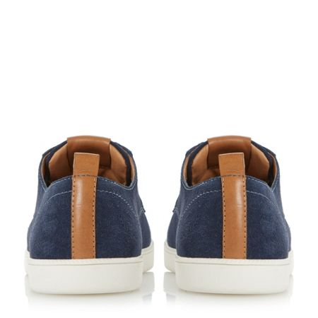 Dune Tucker round toe suede trainers
