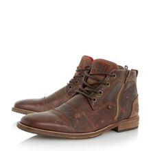 Dune Captains double toecap lace up boots