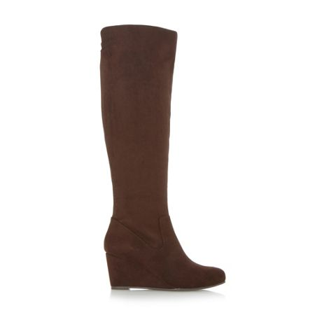 Linea Shenley wedge heel knee high boots