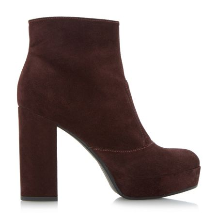 Dune Oklahoma platform ankle boots