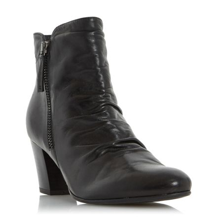 Linea Olana ruched buckle ankle boots
