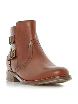 Pascall double buckle ankle boots