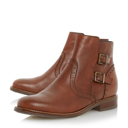 Linea Pascall double buckle ankle boots