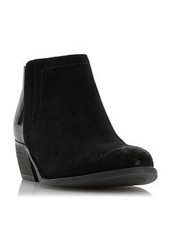 Penela mixed material ankle boots