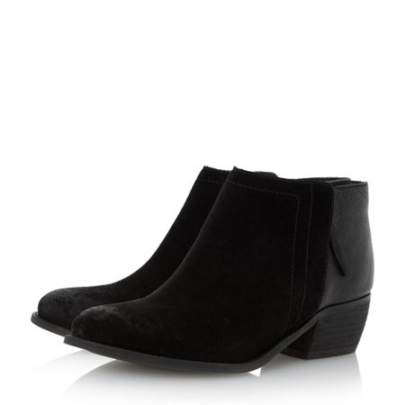 Dune Penela mixed material ankle boots