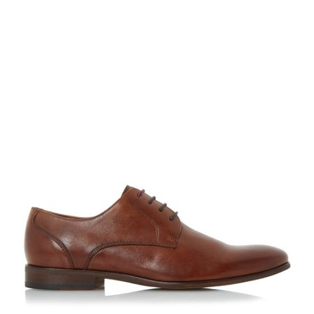 Dune Royston plain toe leather gibson shoes