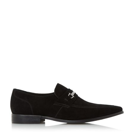 Dune Richie chisel toe snaffle loafer shoes