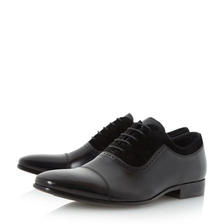 Dune Resolute Suede and Leather Oxford Shoes
