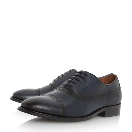 Dune Rebeche hole detail toecap oxford shoes
