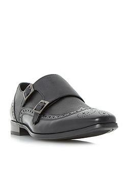 Relic buckle saffiano leather monk shoe