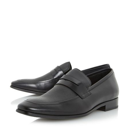 Dune Recruit saffiano vamp loafer shoes