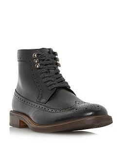 Carnaby Flecked Lace Up Brogue Boots