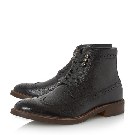 Dune Carnaby Flecked Lace Up Brogue Boots