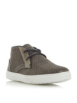Sultan embossed canvas high top trainers