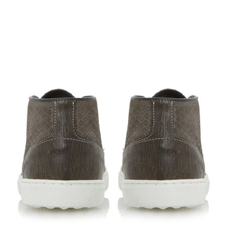Dune Sultan embossed canvas high top trainers
