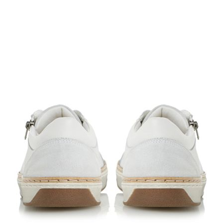 Dune Thor zip embrossed trainers