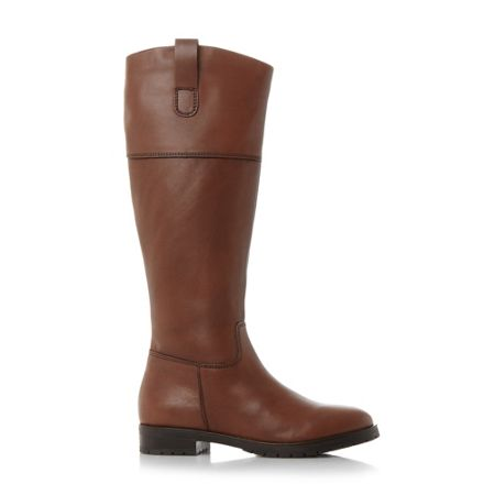 Dune Timi side tab leather riding boots