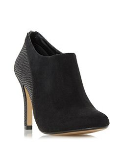 Opera mixed material heeled ankle boots