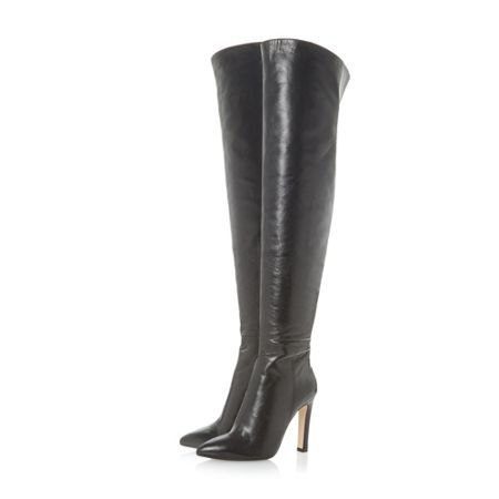 Dune Black Swifte knee high boots