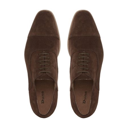 Dune Runyon Natural Sole Suede Oxford Shoes