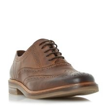Dune Brindle Burnished Detail Brogue Shoe