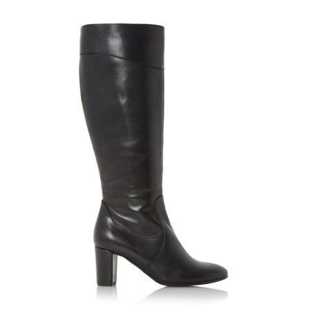Linea Scarla block heel leather knee high boot
