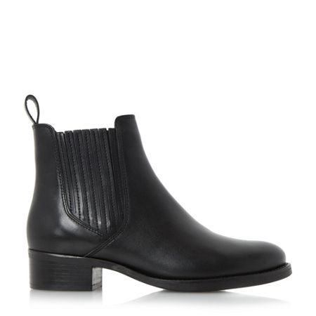 Dune Peppys low block covered chelsea boots