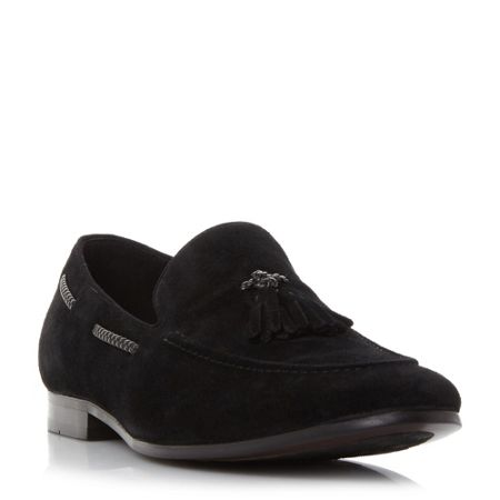 Dune Retreat plait detail tassel loafers