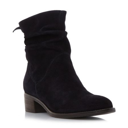 Dune Pager rouch block ankle boots