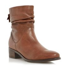 Dune Pager ruched block heel ankle boots