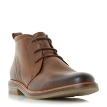 Dune Chadwick Leather Round Toe Chukka Boots