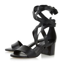 Dune Iva wrap around flat sandals