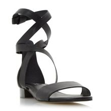 Dune Lucey wrap around flat sandals