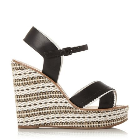 Dune Khalo aztec mono high wedge sandals