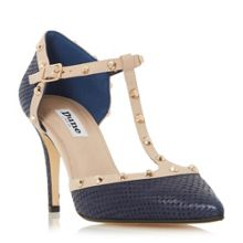 Dune Cliopatra studded t bar court shoes