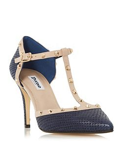 Cliopatra studded t-bar court shoes