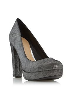 Adele platform high heel court shoes