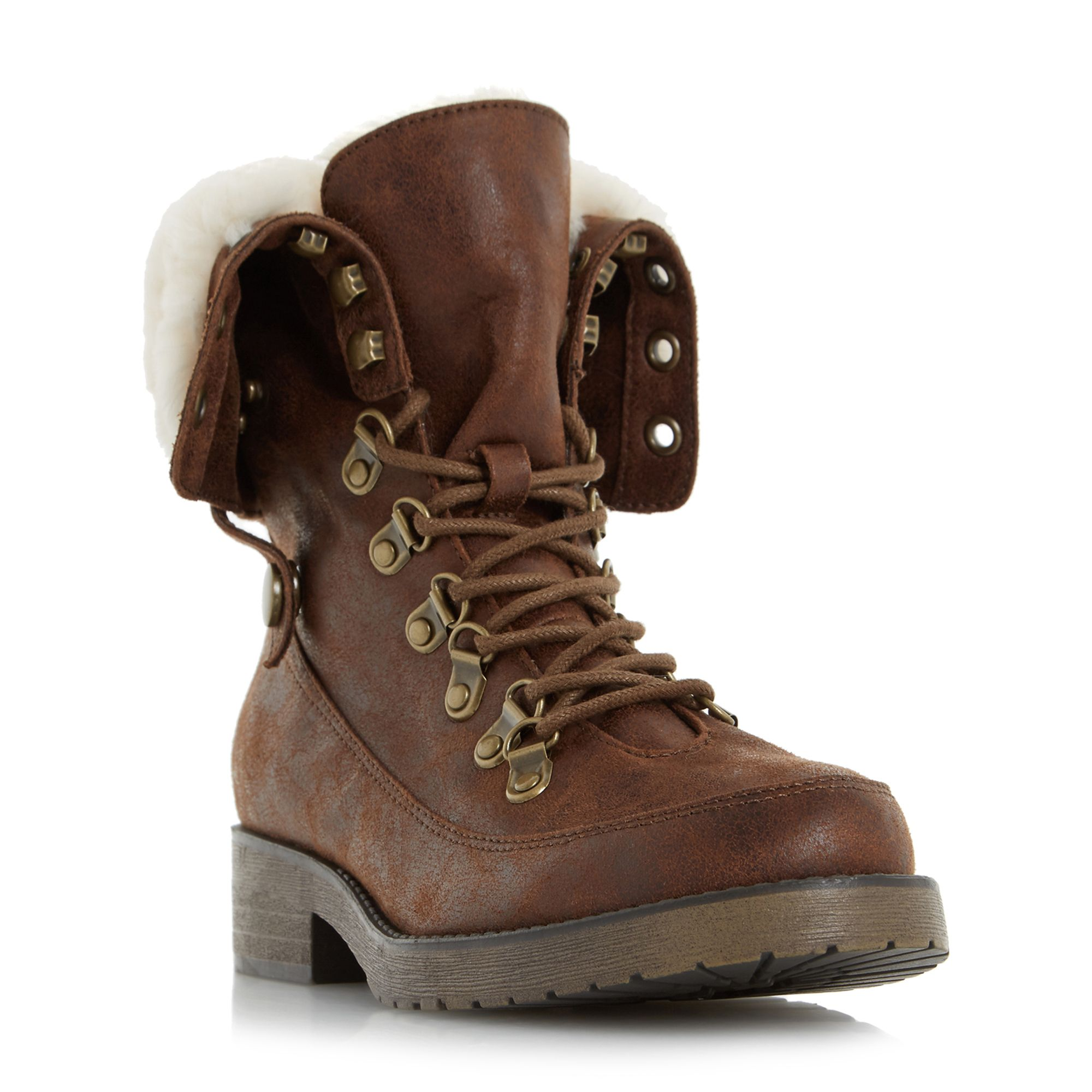 Head Over Heels Rollo lace up hiker boots Tan