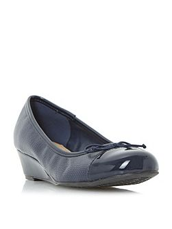 Hecta wedge heel ballerina shoes