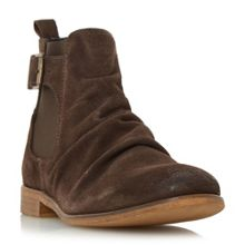 Dune Casper Buckle Strap Ruched Boots
