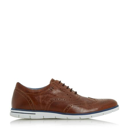 Dune Branson white wedge sole brogues