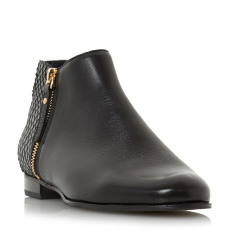 Dune Pander side zip ankle boots