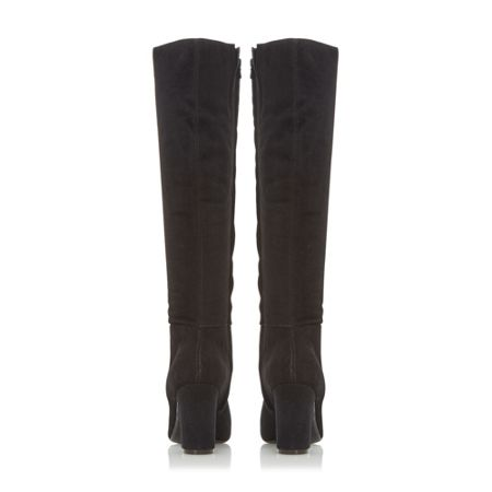 Dune Sadler clean block high leg boots