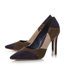 Dune Azzra patchwork high heel court shoes