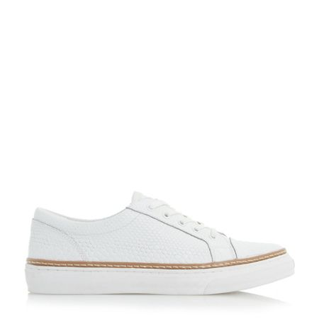 Dune Elisa white outsole lace up shoes
