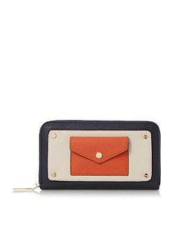 Klair envelope pocket zip around pruse
