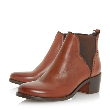 Dune Parnell punch hole chelsea boots