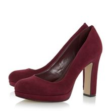 Dune Aria platform court shoes