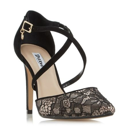 Dune Cordelia lace cross strap point courts